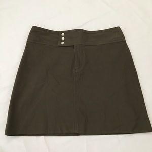 Banana Republic Army Green ALine Skirt